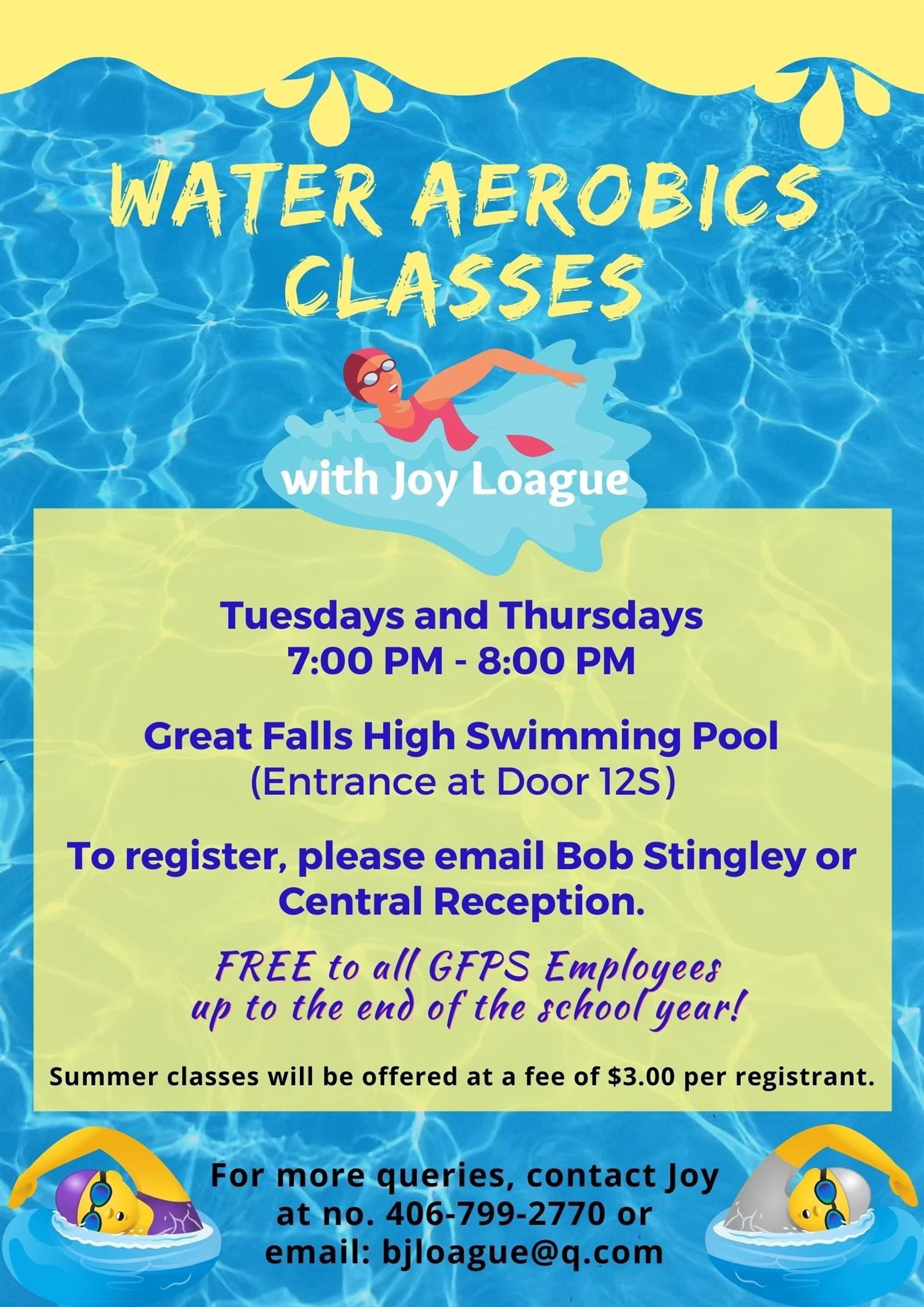 Water Aerobics with Summer Classes