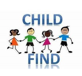 Child Find with four children holding hands