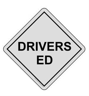 Triangle that says Drivers Ed