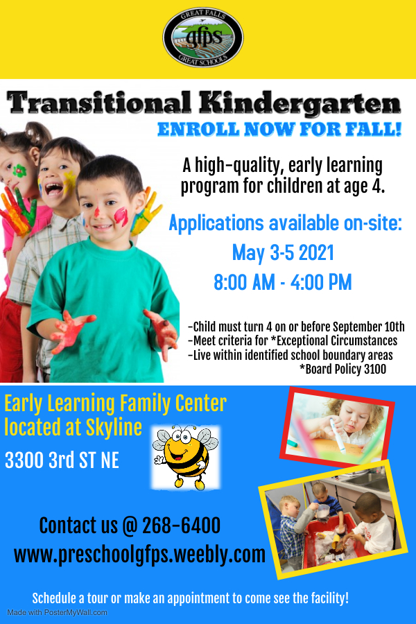 Preschool Registration flyer 2021-22